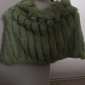 BeBe Shrug rabbit fur. Matching  purse listed.